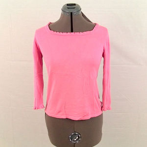 Pink Silk 3/4 Sleeve Sweater